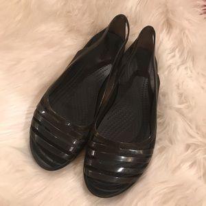 Crocs Dark Gray Sandal Flats Size 11 Wide